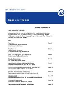 Tipps und Themen 11-2018