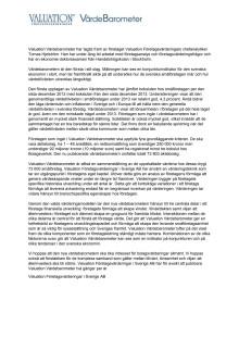 Bakgrund till Värdebarometern 2013