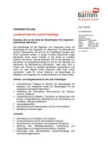 Landkreis Barnim sucht Freiwillige