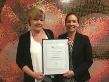 Praktikertjänst N.Ä.R.A. prisades för e-hälsoappen Stelpa på Digital Healthcare Awards