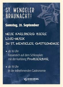 Karlsberg Brauerei feiert erste Braunacht in St. Wendel