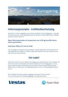Informasjonsmøte - trafikksikkerhetsdag i Åfjord 22. mars