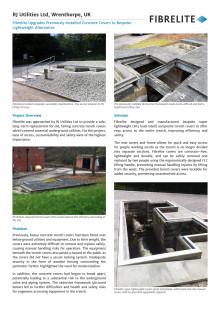 Fibrelite Upgrades Previously Installed Concrete Covers to Bespoke Lightweight Alternative