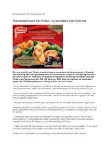 Framröstad favorit från Findus - ny storsäljare inom fryst mat