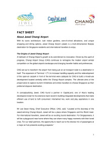 [FACT SHEET] About Jewel Changi Airport