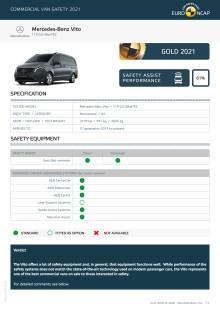 Euro NCAP Commercial Van Testing - Mercedes-Benz Vito datasheet
