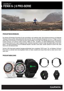 Datenblatt fēnix 6-Serie