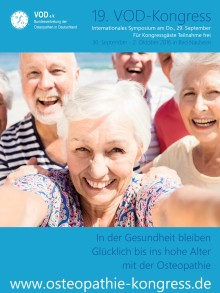 Osteopathie: Fit bis ins hohe Alter / Internationaler Osteopathie-Kongress vom 30.9.-02.10.2016 in Bad Nauheim