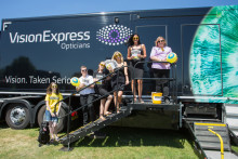 90% of Malvern Truckfest Vision Van visitors found to be driving with outdated prescriptions