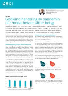Godkänd hantering av pandemin när medarbetare sätter betyg