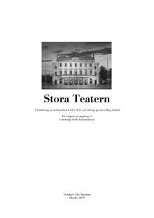 Rapport Stora Teatern av Eric Sjöström