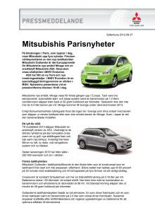 Mitsubishis Parisnyheter
