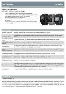 Datenblatt Garmin Approach S10