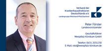 Peter Förster bleibt Landesvorsitzender des Verbands der Krankenhausdirektoren Rheinland-Pfalz/Saarland