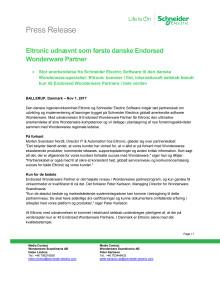Eltronic udnævnt som første danske Endorsed Wonderware Partner