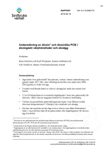 Jordbruksverkets och SVA:s gemensamma rapport