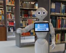 """Am 17. März 2018 in der Potsdamer Wissenschaftsetage: """"Roboter in der Hochschulbibliothek"""""""