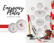 Throw some plates against the wall: The Rosenthal Emergency Plates