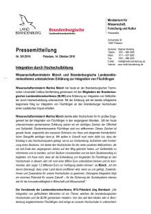 Gemeinsame Erklärung Erklärung zur Integration von Geflüchteten