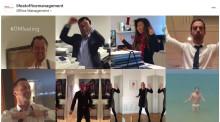 Ledningsgruppen på Office Management utmanas i #fridaydancebattle. Hur de klarar sig? Bedöm själva.