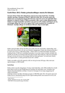 Earth Hour 2012: Findus grönsaksodlingar smarta för klimatet