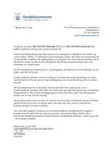 Yttrande över anmälan från Scandavandium AB