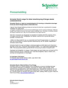 Schneider Electric sørger for sikker strømforsyning til Norges største containerterminal