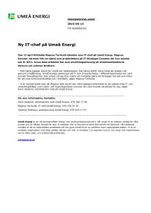 Ny IT-chef på Umeå Energi