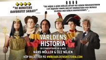 """Nu släpps de fem absolut sista extra föreställningarna av publiksuccén """"Världens Historia - den osminkade sanningen"""" med Özz Nûjen och Måns Möller"""