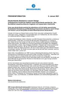 Deutschlands Seenland in neuem Design