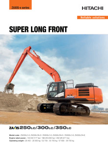 Broschyr Hitachi Super Long Front  ZX130LCN-6