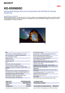KD-55X9005C von Sony