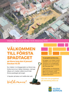 Inbjudan första spadtaget på Stora torg 8 januari