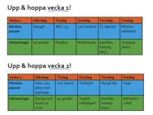 Aktivitetsplan: Upp och hoppa hemma med Trivselprogrammet!