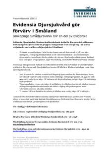 Evidensia Djursjukvård gör förvärv i Småland