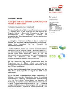 Land gibt zwei Millionen Euro für Deponie Ostend