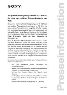 Sony World Photography Awards 2021: Das ist die Jury des größten Fotowettbewerbs der Welt