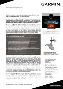 Garmin erweitert sein Panoptix LiveScope-System um eine neue Perspektive im Flachwasser