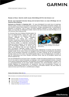 PRESS RELEASE CH Garmin Adventure Race Aktivitätsprofil Enduro