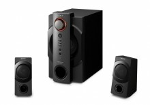 Master blaster: SRS-DB500 2.1ch PC speakers with S-Master Full Digital amplifier technology for incredible power and ultimate bass