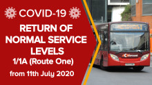 1/1A: Return of normal service levels