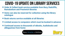 Click, collect, read - our libraries are open for borrowing