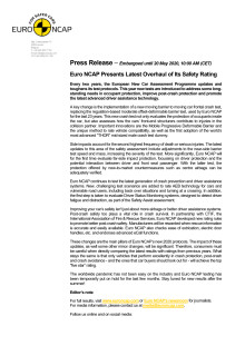 Euro NCAP press release on the new tests