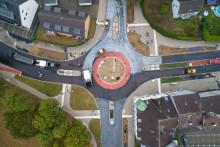 STRABAG baut in Dinslaken Deutschlands ersten luftreinigenden Kreisverkehr