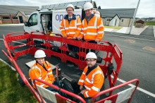 Alasdair Allan MSP connects with high-speed broadband