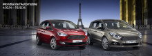 Ford viser ny S-MAX, C-MAX og Grand C-MAX på Paris-utstillingen