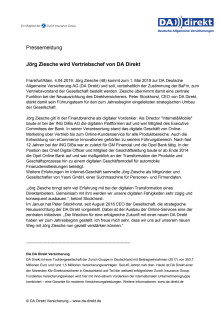 Jörg Ziesche wird Vertriebschef von DA Direkt