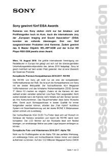 Pressemitteilung_Sony_EISA 2016