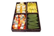 Flacher kann keiner:  Obst- und Gemüseboxen bei ALDI