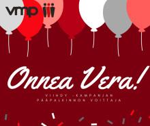VMP:n Viihdy-kampanjan voittajaksi työkavereidensa kehuma positiivisuuden perikuva Vera Tarvonen
